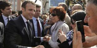 Emmanuel Macron, à Saint-Dié-des-Vosges (Vosges), le 18 avril.