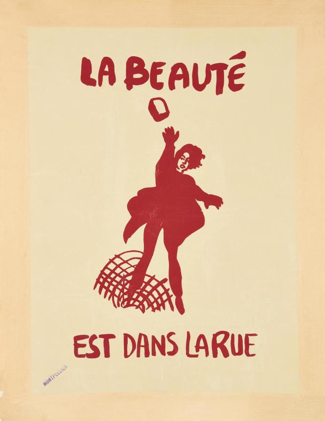 « La beauté est dans la rue». Sérigraphie 65x47.5 cm. Collection Laurent Storch, aux enchères chez Artcurial le 13 mars et adjugée 3 380 euros, record de la vente.