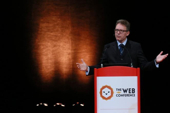 Luciano Floridi à la Web Conference, à Lyon, le 25 avril.