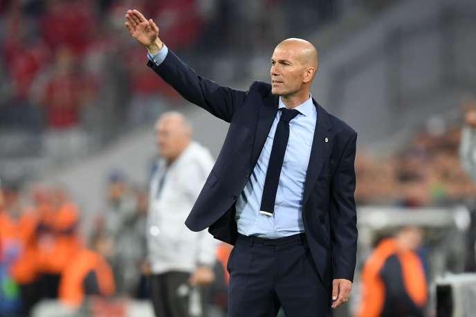 Zinedine Zidane lors du match aller face au Bayern Munich.