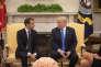« La dictature religieuse n'est pas une fatalité qui colle à la peau des Iraniens. Ils sont décidés à s'affranchir et nous devons les soutenir» (Le président Donald Trump et son homologue français Emmanuel Macron, à la Maison Blanche, le 24 avril à Washington).