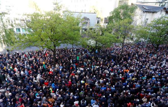 Manifestation contre l'antisémitisme, à Berlin, le 25 avril 2018.