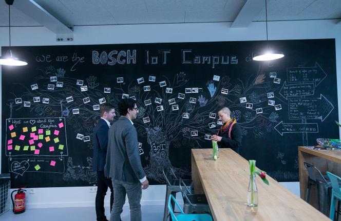 Le campus Internet des objets de Bosch, à Berlin, le 18 janvier.