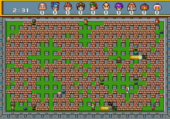 Une partie à dix dans la version Saturn de« Bomberman», la plus cotée dans les années 1990.