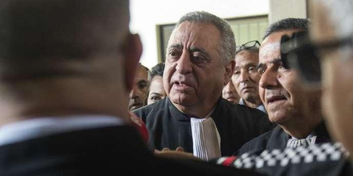 Mohamed Ziane, l'avocat du journaliste marocain Taoufik Bouachrine, à Casablanca, le 5avril 2018.