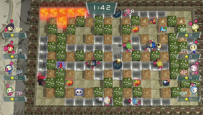 A l'image de« Super Bomberman R» sur Switch, la série n'a jamais quitté sa représentation en 2D à l'ancienne.
