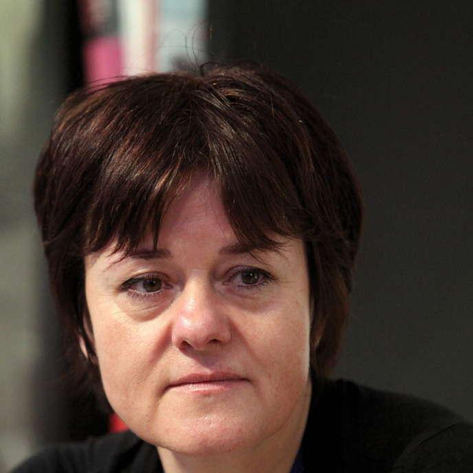 L'écrivaine suisse Pascale Kramer au Salon du livre de Genève, en 2011.