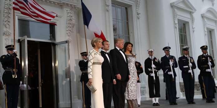 A Washington, un dîner d'Etat à l'ambiance solennelle entre Macron et Trump