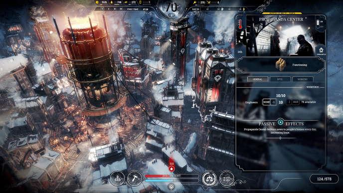 Aussi austère que soit son propos,« Frostpunk» est un jeu de gestion de toute beauté.