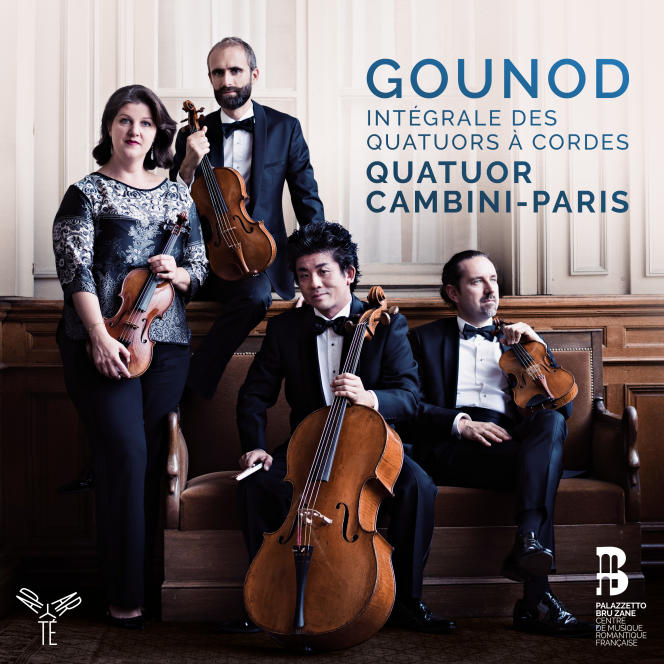 Pochette de l'album« Gounod. Intégrale des quatuors à cordes», par leQuatuor Cambini-Paris.