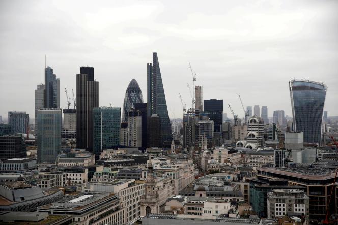 Le district financier de la City, à Londres, en février 2017.
