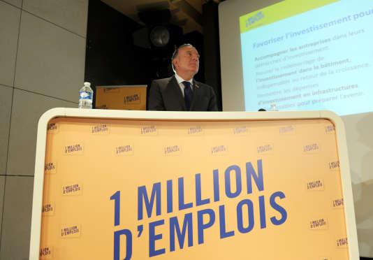 Le président du Medef, Pierre Gattaz, au lancement de l'opération « 1 million d'emplois», en septembre 2014.