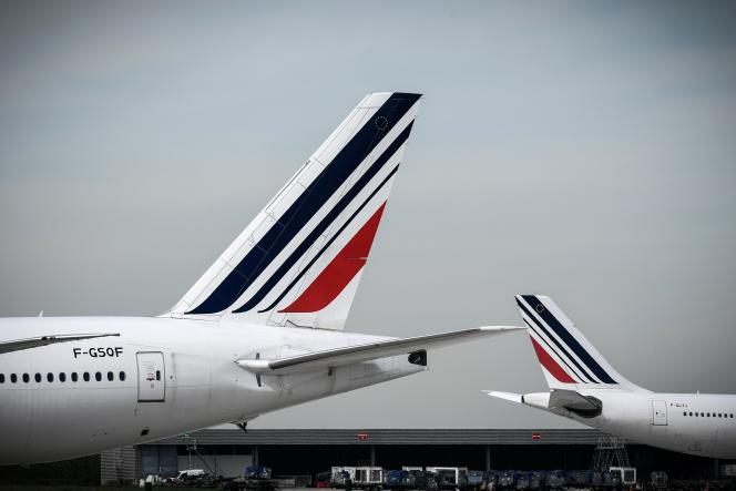 A l'aéroport Paris-Charles-de-Gaulle, le 11 avril, jour de grève à Air France.