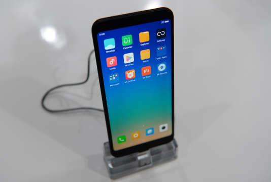 Un Xiaomi Redmi Note 5, à New Delhi, en février.