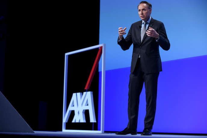 Le directeur général d'Axa Thomas Buberl lors de l'assemblée générale du groupe à Paris, le 25 avril 2018.