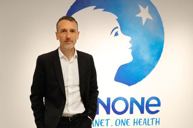Le PDG de Danone, Emmanuel Faber, le 16 février, à Paris.