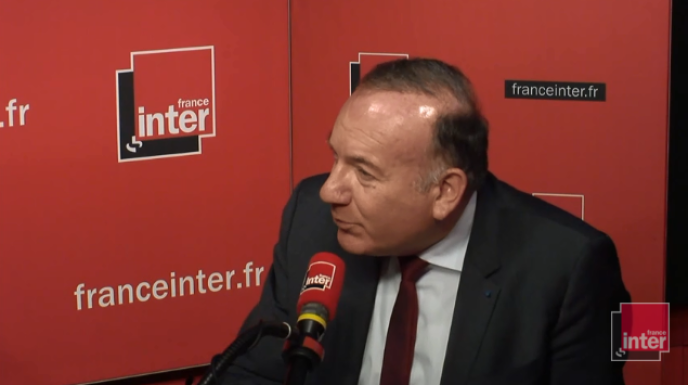 Pierre Gattaz, au micro de France Inter.