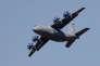 Démonstration d'un avion-cargo de transport militaire Antonov An-77, à Antalya (Turquie), le 25 avril.