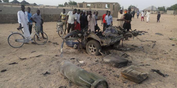 A Maiduguri, au Nigeria, après une attaque de Boko Haram, le 27 avril 2018.