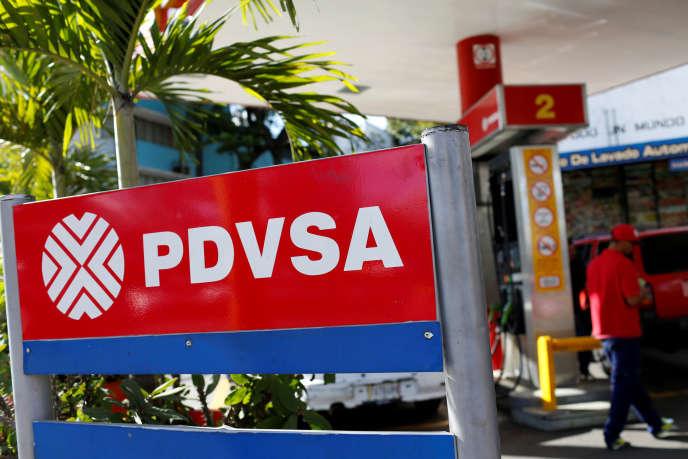 Une station-service de la compagnie pétrolière vénézuélienne PDVSA à Caracas, en mars 2017.