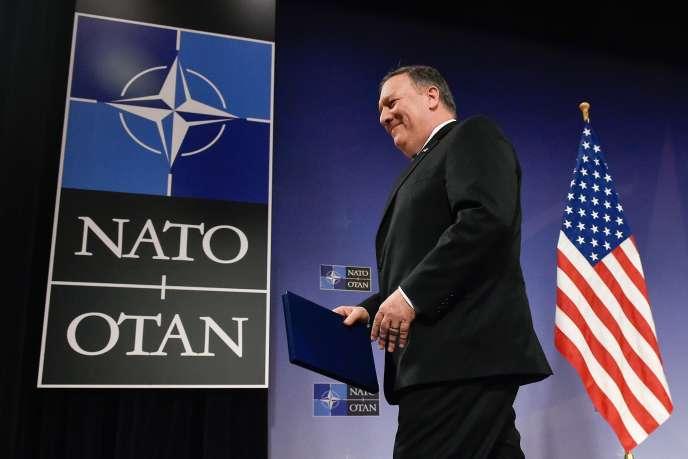 Mike Pompeo est arrivé vendredi à Bruxelles pour une réunion de l'OTAN, au lendemain de sa nomination au poste de secrétaire d'Etat américain.