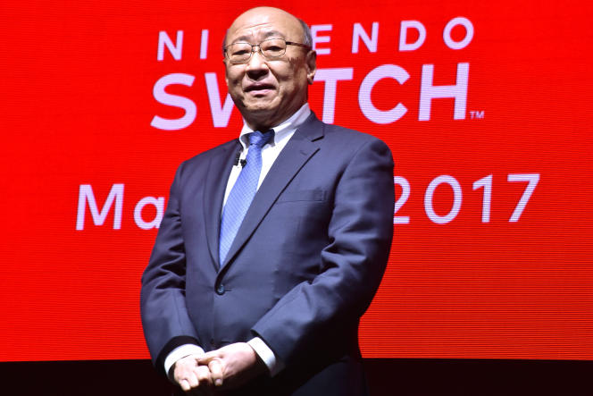 Le président du groupe japonais Nintendo, Tatsumi Kimishima, à Tokyo, en janvier 2017.