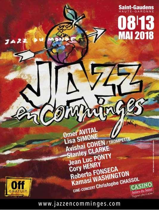 Affiche du festival Jazz en Comminges, à Saint-Gaudens.