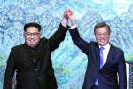 Les dirigeants des deux Corées se sont engagés, vendredi 27 avril, à oeuvrer en faveur de la dénucléarisation de la péninsule et d'une paix permanente.