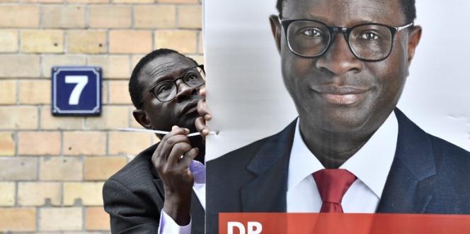 Le député allemand d'origine sénégalaise Karamba Diaby, à Halle, en Allemagne, le 6septembre 2017.