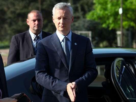 Bruno Le Maire, le ministre des finances, à Sofia, en Bulgarie, le 27 avril.