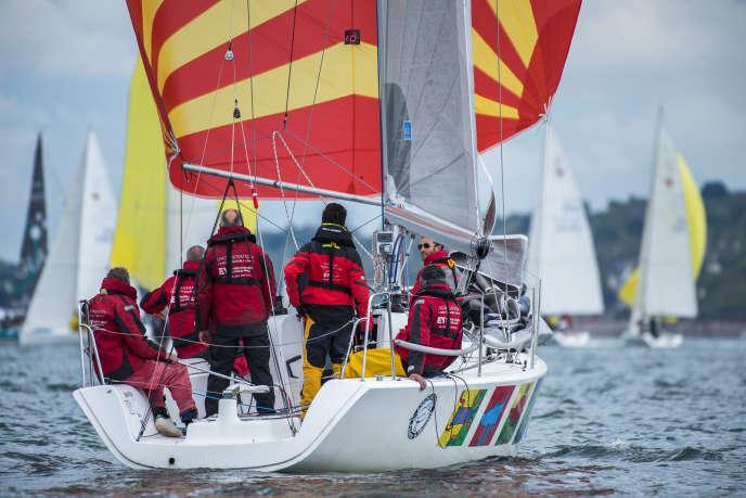 Le bateau des anciens présidents a concouru lors de la finale de la Course croisière Edhec, samedi 28 avril.