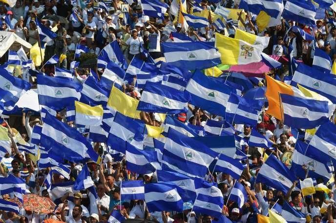 Manifestation au Nicaragua pour réclamer la fin des violences, le 28 avril.