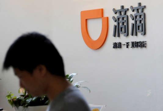 Le logo de Didi Chuxing au siège de l'entreprise à Pékin, le 18 mai 2016