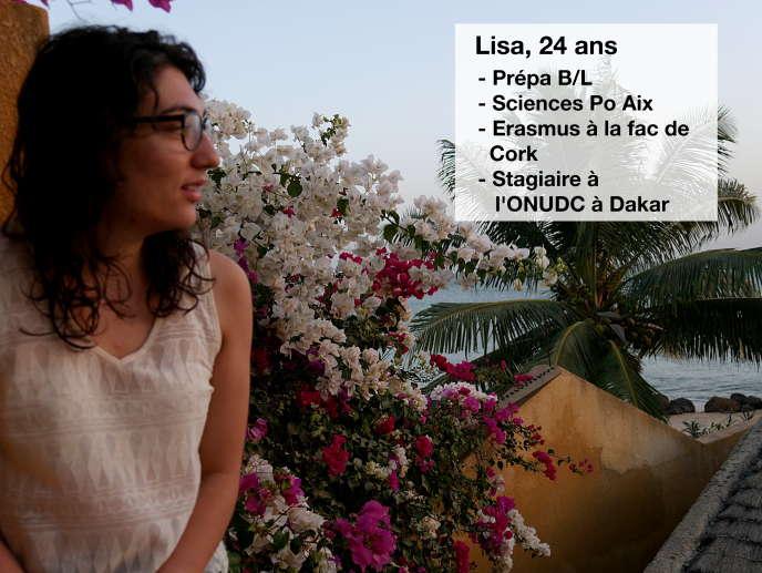 Aujourd'hui en stage à l'Office des Nations unies contre la drogue et le crime, à Dakar,Lisa, 24ans, a découvert le champ des relations internationales grâce à son année Erasmus.