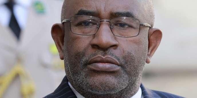Le président des Comores, Azali Assoumani, au palais de l'Elysée, à Paris, le 4octobre 2016.