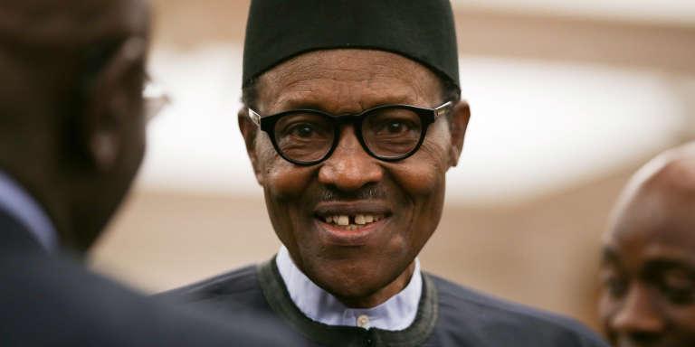 Le président nigérian, Muhammadu Buhari, à Londres, le 18 avril 2018.