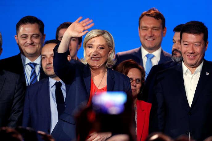 Marine Le Pen s'estréjouie de cette« fête des nations» rassemblant les droites extrêmes et populistes européennes, organisée à Nice, le 1er mai.