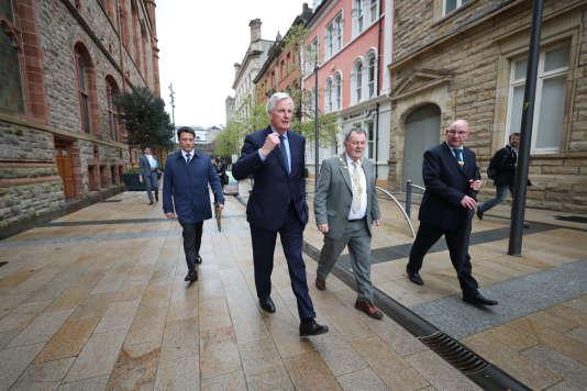 Michel Barnier, le négociateur en chef du Brexit pour l'UE, à Derry, en Irlande du Nord, le 1er mai.