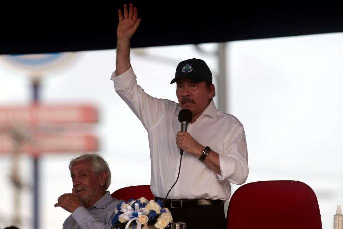 Daniel Ortega, lors d'un discours à Managua, le 30 avril.