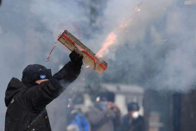Lors de la manifestation du 1er mai à Paris.