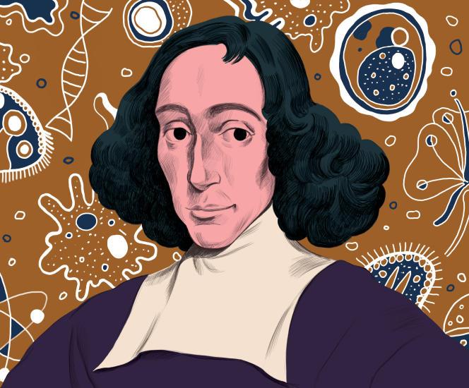 """« Pour Henri Atlan, si Spinoza est actuel, il le doit à sa métaphysique, développée dans son livre posthume et majeur, l'""""Ethique""""» (Illustration: Spinoza)."""