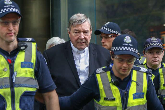 Le cardinal George Pell à son arrivée au tribunal de Melbourne, en Australie, le 1er mai.
