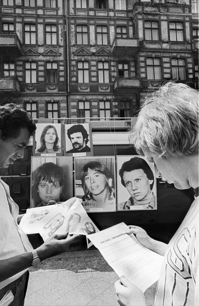 Berlin, 1978 : avis de recherche de membres de la Fraction armée rouge.