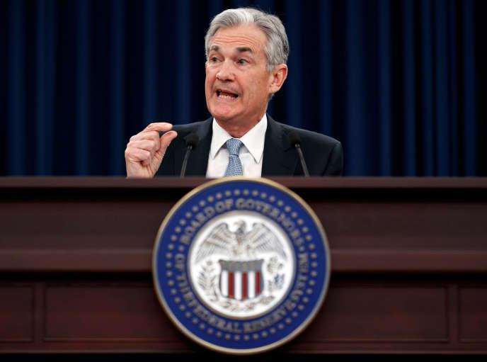 Jerome Powell, président de la Réseve fédérale, à Washington, le 21 mars.