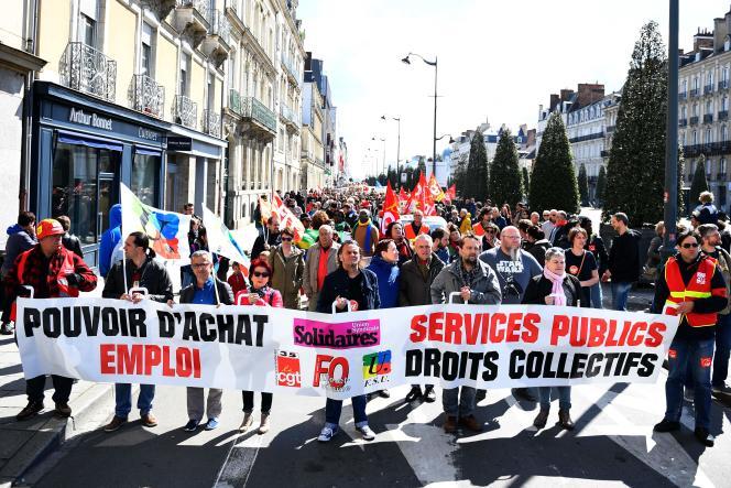 Le défilé du 1er mai à Rennes.