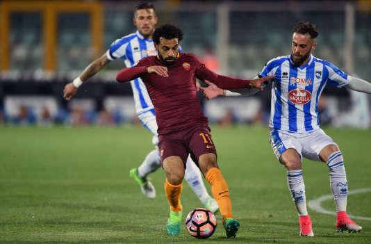 Mo Salah sous les couleurs de la Roma, en avril 2017.