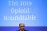 Jeff Sessions, le procureur général des Etats-Unis, lors d'une table ronde sur les opioïdes à Washington, le 3 mai.