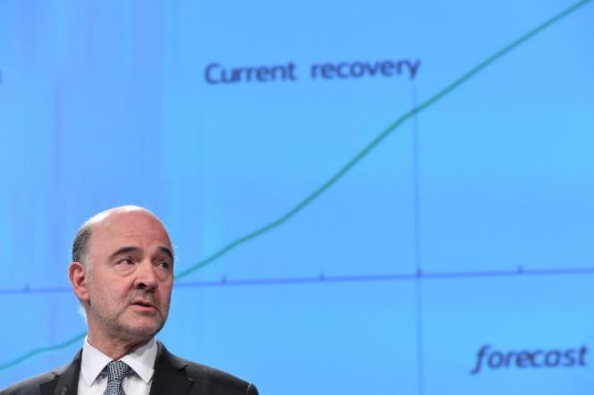 Pierre Moscovici, commissaire européen aux affaires économiques et financières,à Bruxelles, le 3 mai.