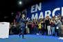 Meeting national d'En Marche avec Emmanuel Macron, à Paris le 10 decembre 2016.