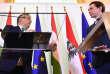 Viktor Orban et Sebastian Kurz, les dirigeants hongrois et autrichien, à Vienne, le 30 janvier.